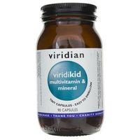 Witaminy i minerały, Viridikid - witaminy i minerały dla dzieci (90 kaps.) Viridian