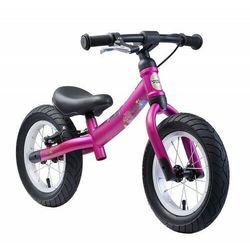 """Rowerek biegowy 12"""" BIKESTAR obracana rama 2w1 hamulec kolor jagodowy"""