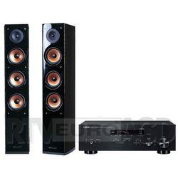 Yamaha MusicCast R-N303D (czarny), Pure Acoustic NOVA 8 (czarny)
