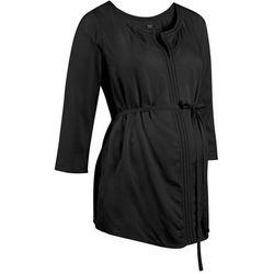 Tunika ciążowa z ażurowym haftem bonprix czarny