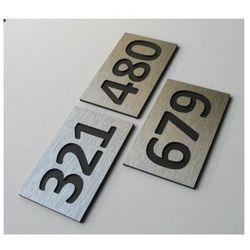 Numer, Numery Grawerowane na Drzwi z aluminium C3