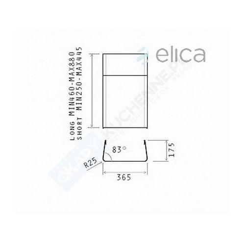 Kominy wentylacyjne, Komin krótki ELICA KIT0010701 - Największy wybór - 14 dni na zwrot - Pomoc: +48 13 49 27 557