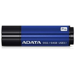 ADATA pamięć S102 PRO 64GB USB 3.0 Titanium BLUE (Zap/Odcz 50/100MB/s )