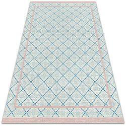 Modny uniwersalny dywan winylowy Modny uniwersalny dywan winylowy Niebieskie linie