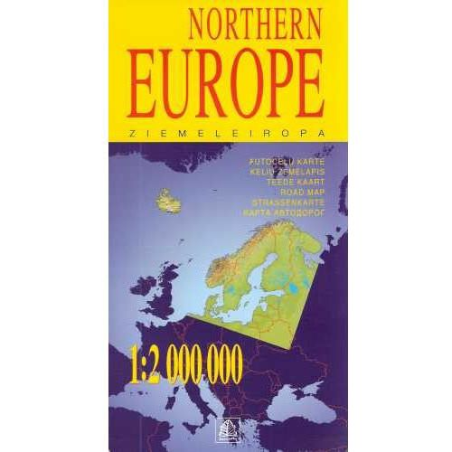 Mapy i atlasy turystyczne, Europa północna mapa 1:2 000 000 Jana Seta (opr. miękka)
