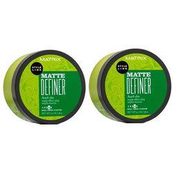 Matrix Style Link Matte Definer   Zestaw: glinka teksturyzująca do włosów 2x98g