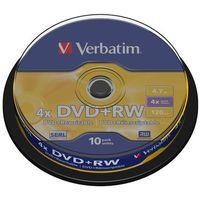 Pozostałe nośniki danych, DVD+RW VERBATIM 43488 4.7GB 4X CAKE 10 SZT- Zamów do 16:00, wysyłka kurierem tego samego dnia!
