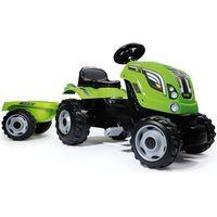 Traktory dla dzieci, SMOBY Traktor na pedały Farmer XL z przyczepą - Zielony