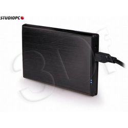 """Natec RHINO obudowa USB 2.0 na dysk 2.5"""" SATA, czarne szczotkowane aluminium"""
