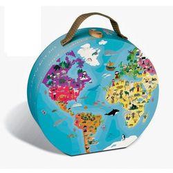 Puzzle dwustronne w walizce Janod 208 el. - Błękitna planeta J02926