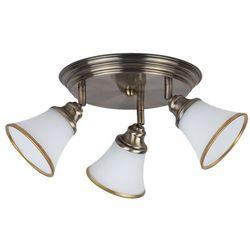 Plafon lampa sufitowa Rabalux Garndo 3x40W E14 R50 brąz/biały 6548