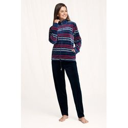 Dres damski homewear luna 305 dł/r m-2xl rozmiar: l, kolor: bordowy, luna