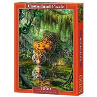 Puzzle, Puzzle 1000 Tiger in the Jungle - Castor OD 24,99zł DARMOWA DOSTAWA KIOSK RUCHU
