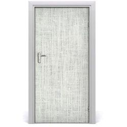 Naklejka samoprzylepna na drzwi Lniane białe płótno