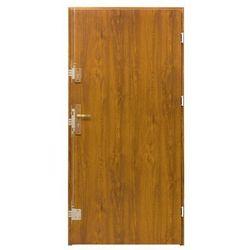 Drzwi zewnętrzne stalowe Splendoor Bazalt 80 prawe złoty dąb
