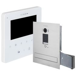 Zestaw wideodomofonu cyfrowego skrzynka na listy Vidos S1401D-SKM M1022W-2