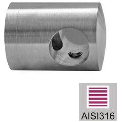 Uchwyt wypełnienia końcowy- lewy AISI316, d12/40x4