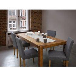 Fotel tapicerowany szary - krzesło do jadalni, kuchni - BROADWAY