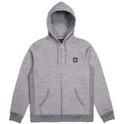 bluza BRIXTON - Bering Zip Hood Fleece Heather Grey (HTGRY) rozmiar: M