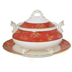 Royal Crown Derby India Red Duża Waza Na Zupę