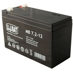 Akumulator AGM Megabat MB 7,2-12 (12V 7,2Ah)
