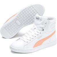 Pozostałe obuwie dziecięce, Puma buty dziecięce Vikky v2 Mid SL Jr White-Peach Parfait-Silver-Gray Violet 36