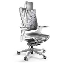 Fotel WAU 2 biały - Elastomer Szary - ZŁAP RABAT NIESPODZIANKA