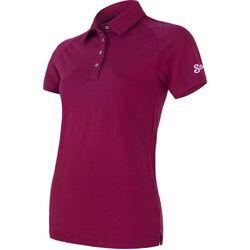 Sensor Merino Active Damska Koszulka Polo z krótkim rękawem, Lilla, L