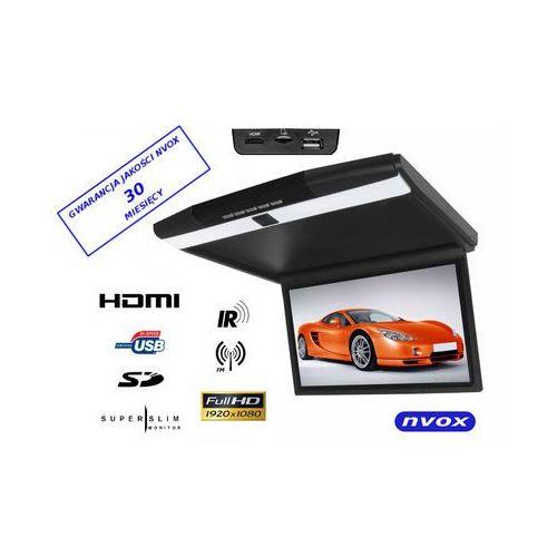 "Monitory samochodowe, NVOX RF173HDMI BL Monitor podwieszany podsufitowy LCD 17"" cali LED FULL HD HDMI USB SD IR FM"