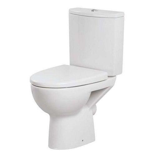 Miski i kompakty WC, CERSANIT PARVA Kompakt WC z deską duroplast, odpływ pionowy K27-003