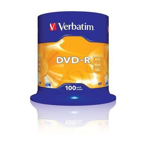 Płyty CD, DVD, Blu-ray, DVD-R VERBATIM 4.7GB 16x CAKE 100 SZT