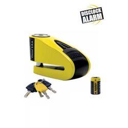Blokada na tarczę z alarmem AUVRAY B-LOCK 10 - żółto-czarna, średnica bolca 10 mm