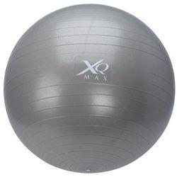 Piłka gimnastyczna do ćwiczeń, 65 cm, z pompką nożną - srebrna