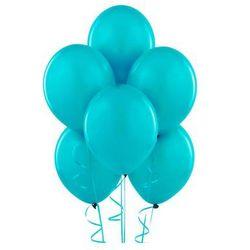 Balony lateksowe pastelowe turkusowe - średnie - 25 szt.