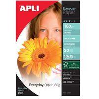 Papiery fotograficzne, Papier fotograficzny APLI Everyday Photo Paper, 10x15cm, 180gsm, błyszczący, 20ark.
