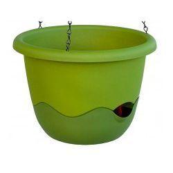 Donica z systemem nawadniania Mareta 25 zielony +ciemno zielony