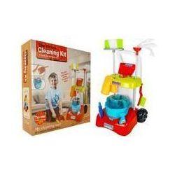 Zabawkowy zestaw do sprzątania Wózek mop akcesoria