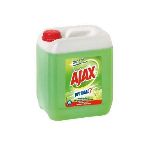 Płyny i żele do czyszczenia armatury, Płyn uniwersalny Ajax Optimal7 cytrynowy 5 l