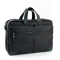Pokrowce, torby, plecaki do notebooków, Teczka biznesowa, 2 w 1 dzielona na pół, z kieszenią na laptopa do 15,6' i tablet do 10', Nylon, marki Roncato kolekcja Wall Street - kolor czarny
