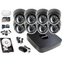 Zestawy monitoringowe, Zestaw do monitoringu: Rejestrator BCS-XVR0801E, 8x Kamera LV-AL25HD, 1TB, akcesoria