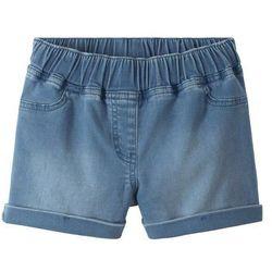 """Szorty dresowe dziewczęce w optyce dżinsowych bonprix niebieski """"bleached"""""""