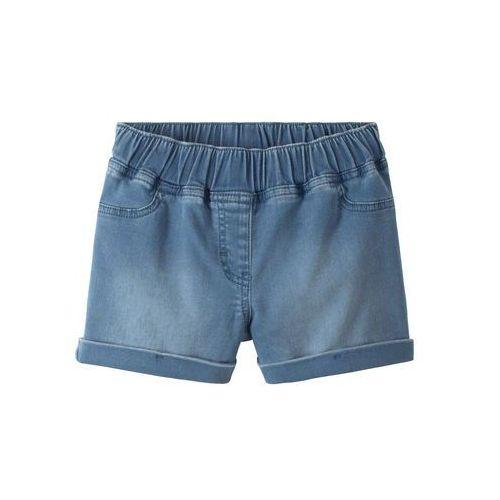 """Bluzy dla dzieci, Szorty dresowe dziewczęce w optyce dżinsowych bonprix niebieski """"bleached"""""""