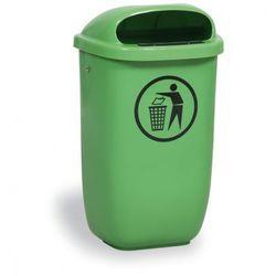 Zewnętrzny kosz na odpady na słupek DINO, jasnozielony