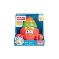 Pozostałe zabawki dla najmłodszych, Krab piramidka do ciągnięcia 5O40JE Oferta ważna tylko do 2031-09-17