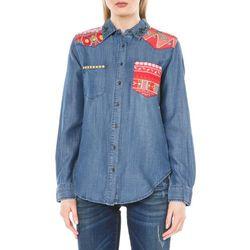 Desigual Exotic Koszula Niebieski XS Przy zakupie powyżej 150 zł darmowa dostawa.