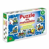 Pozostałe zabawki dla najmłodszych, Puzzle dla Maluszków - Maszyny Budowlane + PREZENT do zakupów za min.30 zł.