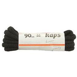 KAPS sznurowadła 90 cm 09_090_300_0091 czarny, sznurowadła bawełniane, okrągłe, grube - Czarny