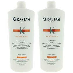 Kerastase Lait Vital | Zestaw: mleczko proteinowe do włosów lekko suchych, normalnych 2x1000ml