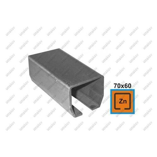 Przęsła i elementy ogrodzenia, Profil do bramy przesuwnej Zn, 70x60x3,5mm, L6m