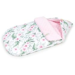 """Śpiworek do wózka gondoli fotelika 0-12 miesięcy """"S"""" - Różany ogród / jasny róż"""